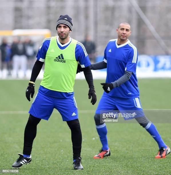 FIFA International beim Home of FIFA Legends Game 2017 Mohamed Aboutrika und David Trezeguet