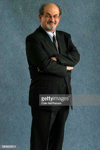 International bestselling British author Salman Rushdie is pictured at the Edinburgh International Book Festival prior to an exclusive reading of his...