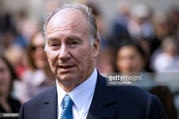 International business magnate and racehorse owner and breeder Prince Aga Khan attends the French Derby also known as the 'Prix du Jockey Club' on...