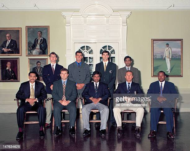 International captains attending an ICC conference pictured in the Long Room at Lord's cricket ground in London circa May 1998 Back row Alistair...