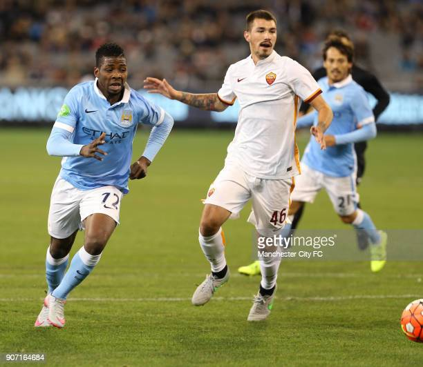 International Champions Cup AS Roma v Manchester City Melbourne Cricket Ground Manchester City's Kelechi Iheanacho takes the ball past AS Roma's...