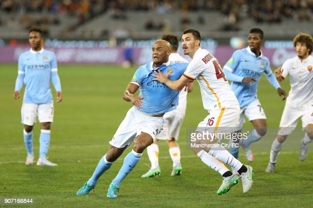 International Champions Cup AS Roma v Manchester City Melbourne Cricket Ground Manchester City's Vincent Kompany battles for the ball with AS Roma's...