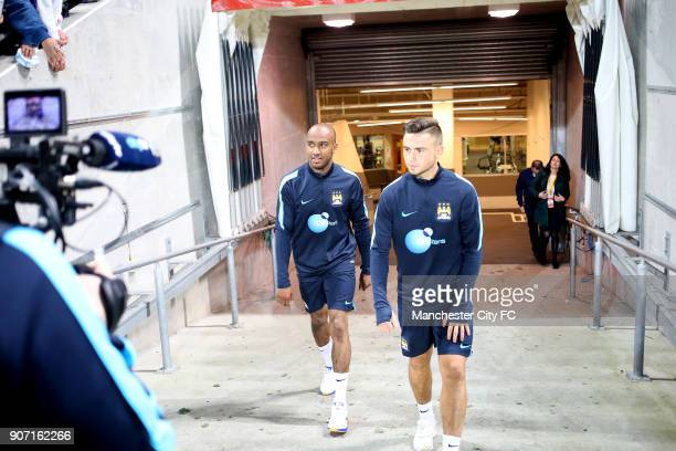 International Champions Cup Manchester City v Real Madrid Manchester City Training Melbourne Manchester City's Fabian Delph heading out for training