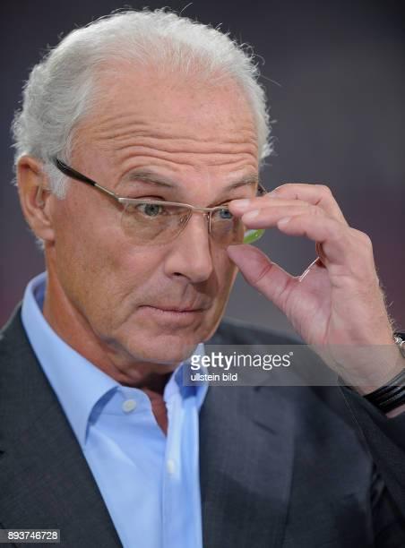 FUSSBALL International Champions League SAISON VfB Stuttgart Glasgow Rangers Franz Beckenbauer Fernsehexperte von Sat1 ran