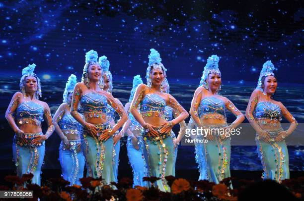 International Chinese Artist perform during an event celebrating the Spring Festival to welcome the Lunar New Year of the Dog in Kolkata on February...