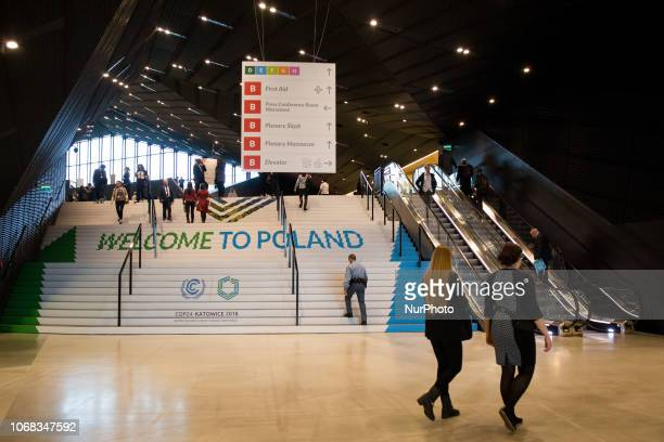 International Congress Centre during the UN Climate Change Conference in Katowice Poland on 3 December 2018