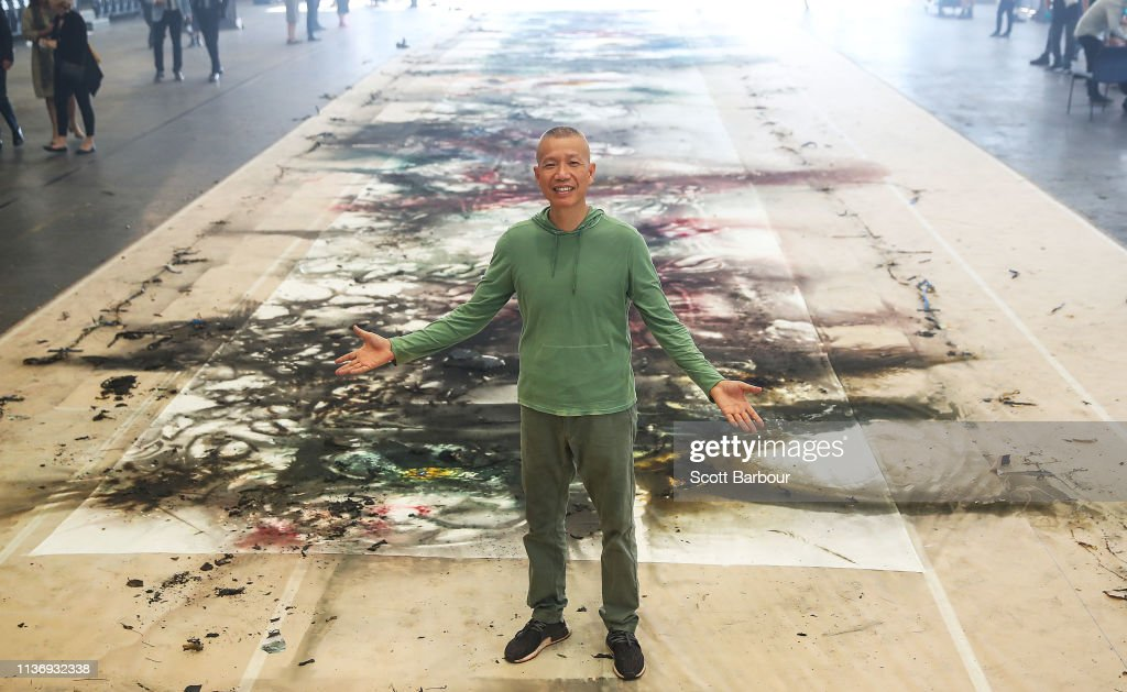 AUS: International Contemporary Artist Cai Guo-Qiang Creates Explosive New Artwork For National Gallery of Victoria