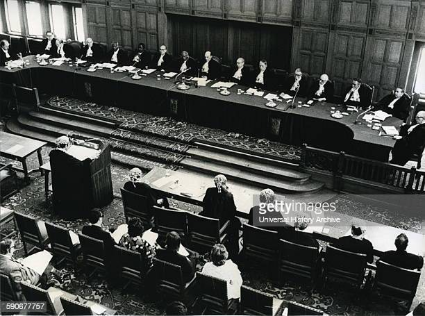 International Court of Justice, in Holland, hearing the case on French nuclear testing 1973.