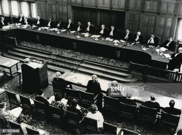 International Court of Justice in Holland hearing the case on French nuclear testing 1973