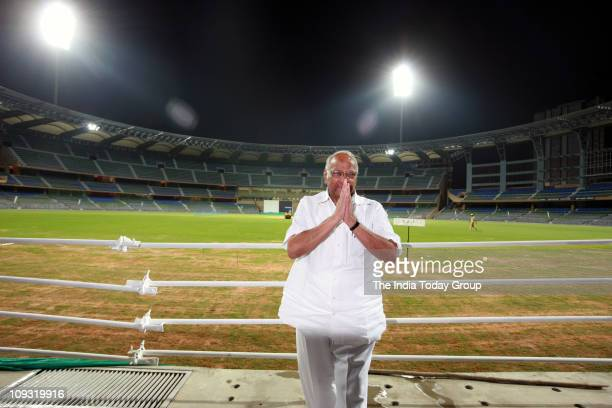 International Cricket Council president Sharad Pawar seen inside Mumbai's Wankhede Stadium on Sunday February 20 2011