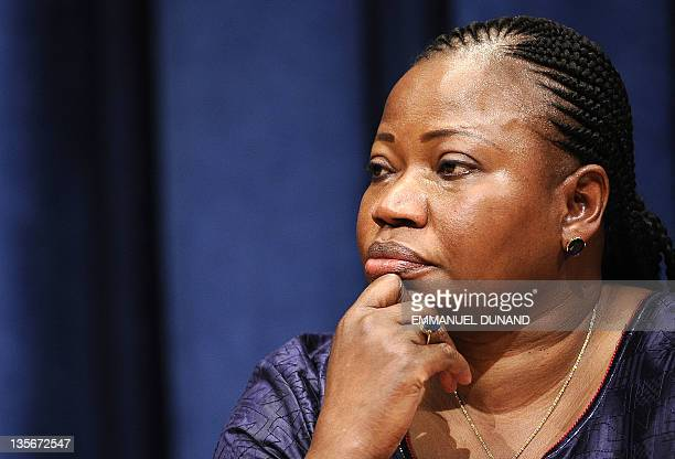 International Criminal Court Chief Prosecutor elect Fatou Bensouda from Gambia holds a press conference at the United Nations headquarters in New...