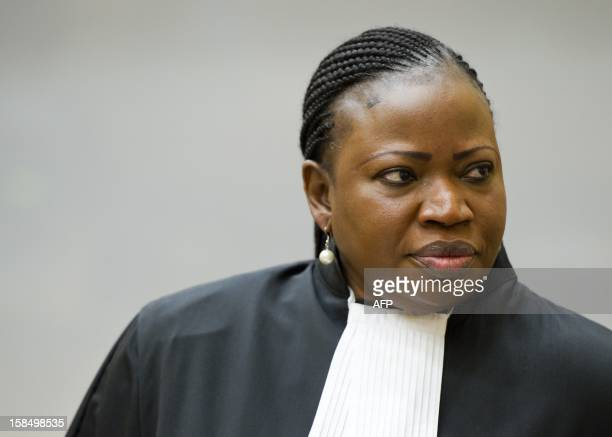 International Criminal Court chief prosecutor Fatou Bensouda from Mali is pictured before the verdict on Congolese exmilitia boss Mathieu Ngudjolo...