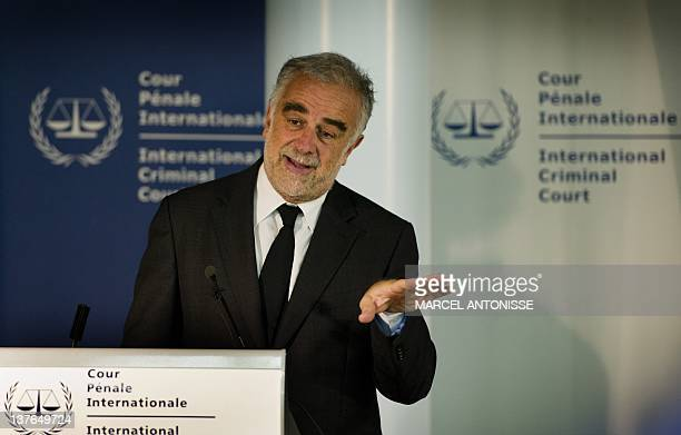 International Criminal Court Chief Prosecutor Luis Moreno Ocampo gives a press conference at the International Criminal Court in the Hague on January...