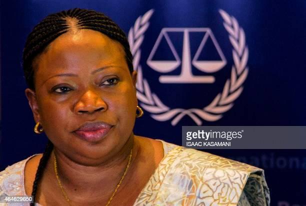 International Criminal Court's prosecutor Fatou Bensouda addresses a press conference in Kampala on February 27 2015 The International Criminal...