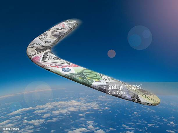 International Currency Boomerang above the Earth