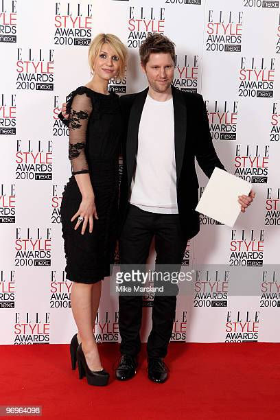 International Designer winner Christopher Bailey and Claire Dannes in the Winner's room at the ELLE Style Awards 2010 at the Grand Connaught Rooms on...