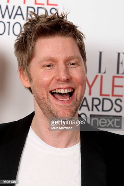 International Designer winner Christopher Bailey in the Winner's room at the ELLE Style Awards 2010 at the Grand Connaught Rooms on February 22, 2010...