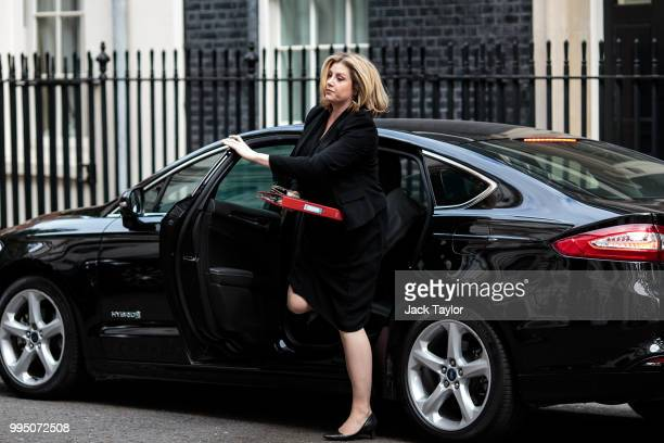 International Development Secretary Penny Mordaunt arrives for a cabinet meeting at 10 Downing Street on July 10 2018 in London England Ministers are...