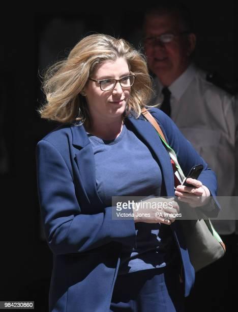 International Development Secretary Penny Mordaunt leaves 10 Downing Street London following a cabinet meeting