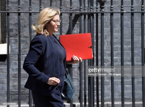 International Development Secretary Penny Mordaunt leaves Downing Street London following the Cabinet meeting