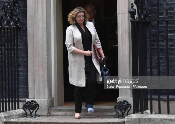 International Development Secretary Penny Mordaunt leaves Downing Street London after a cabinet meeting