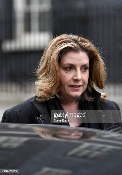 International Development Secretary Penny Mordaunt leaves following the weekly cabinet meeting at Downing Street on December 5 2017 in London England...