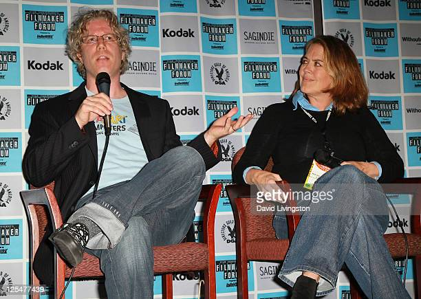 International Documentary Association president Eddie Schmidt and director Marina Zenovich attend Film Independent's Filmmaker Forum Day 2 at the...