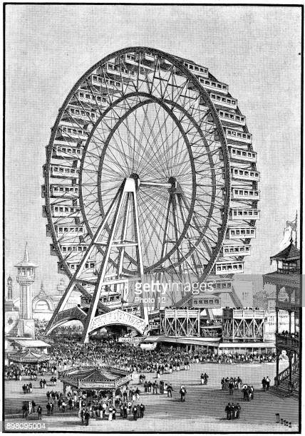 International Exhibition Chicago USA 1893 The giant Ferris wheel Photo12/Universal Images Group via Getty Images