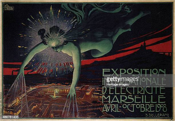 International Exposition of Electricity Marseille 1908 Artist Dellepiane David