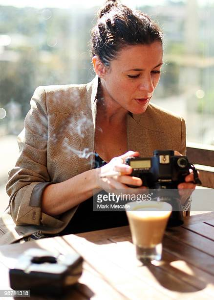 International fashion blogger and photographer Garance Dore relaxes before the Garance Dore Winter With Westfield Designer Installation launch at...