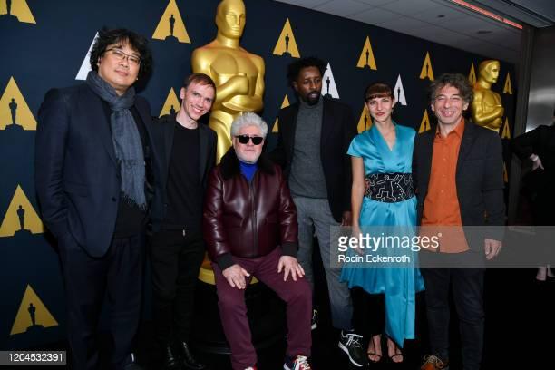 International Feature Film nominees Bong Joonho Jan Komasa Pedro Almodóvar Ladj Ly Tamara Kotevska and Ljubo Stefanov attend Oscars Week...