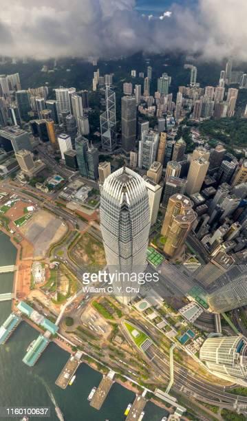 international finance center, central, hong kong - two international finance center stock pictures, royalty-free photos & images