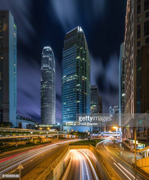 international finance centre building of hong kong - two international finance center stock pictures, royalty-free photos & images