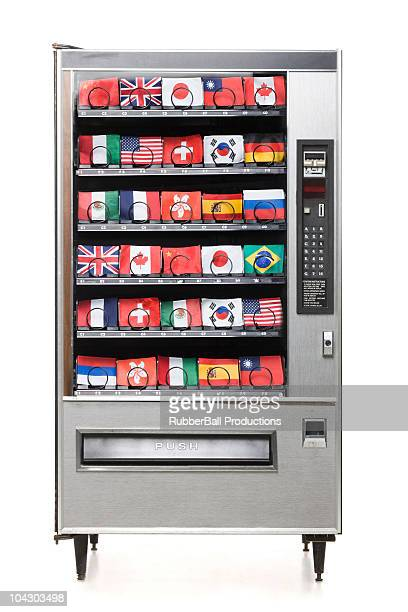 international flags in the vending machine