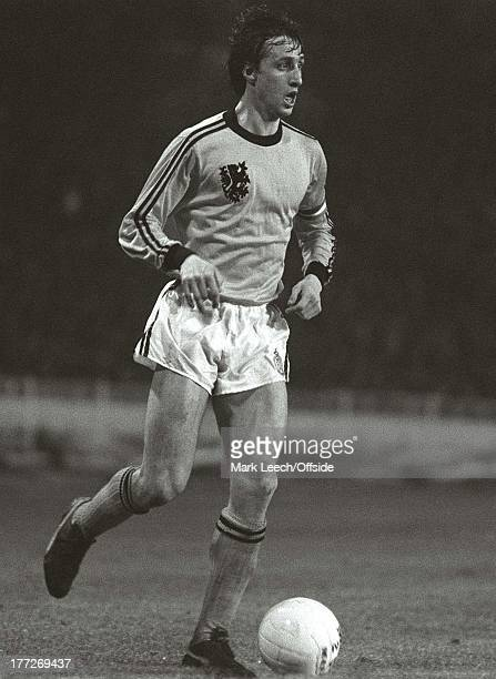 International Football ENGLAND V HOLLAND DUTCH CAPTAIN JOHAN CRUYFF
