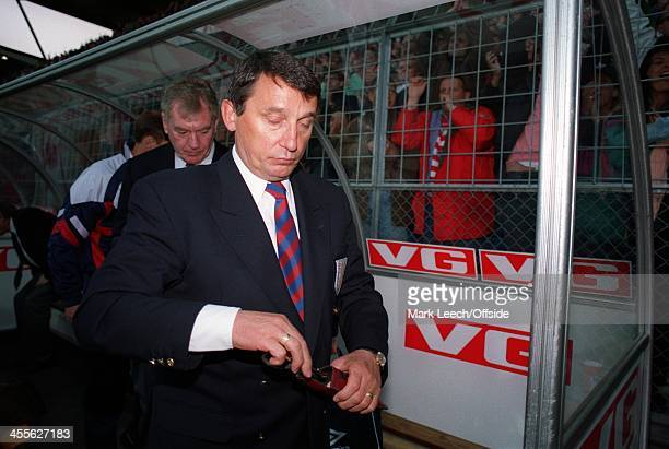 International Football - Norway v England, England manager Graham Taylor puts away his glasses after England's defeat.