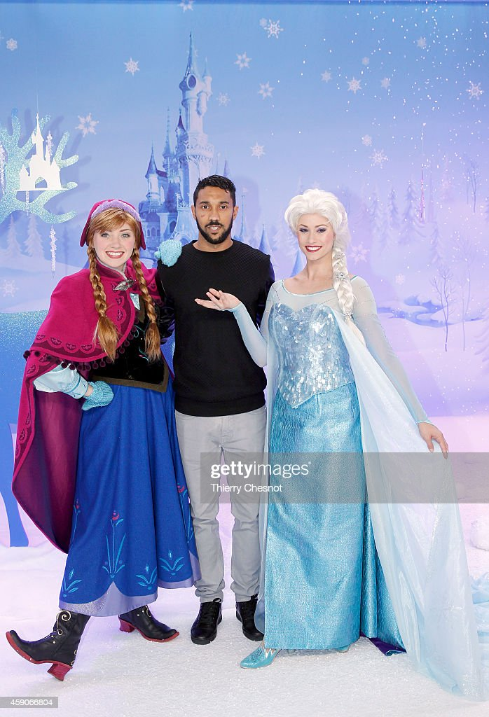 International football player, Gael Clichy attends the Christmas season launch at Disneyland Paris on November 15, 2014 in Paris, France.
