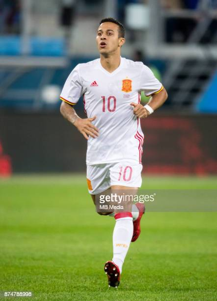 SPAIN International friendly football match at Saint Petersburg Stadium The game ended in a 33 draw Spain's Thiago Alcantara