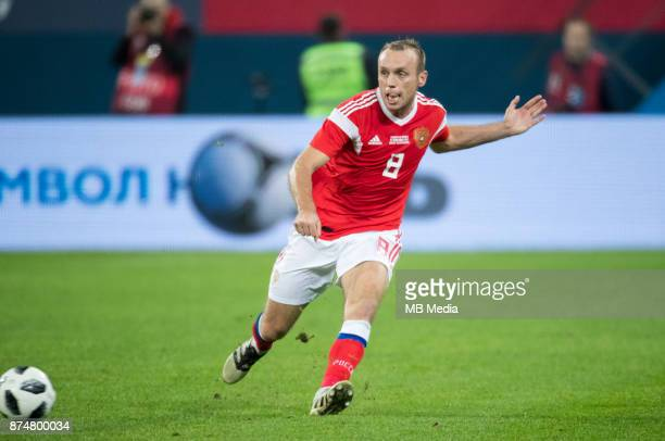 SPAIN International friendly football match at Saint Petersburg Stadium The game ended in a 33 draw Russia's Denis Glushakov