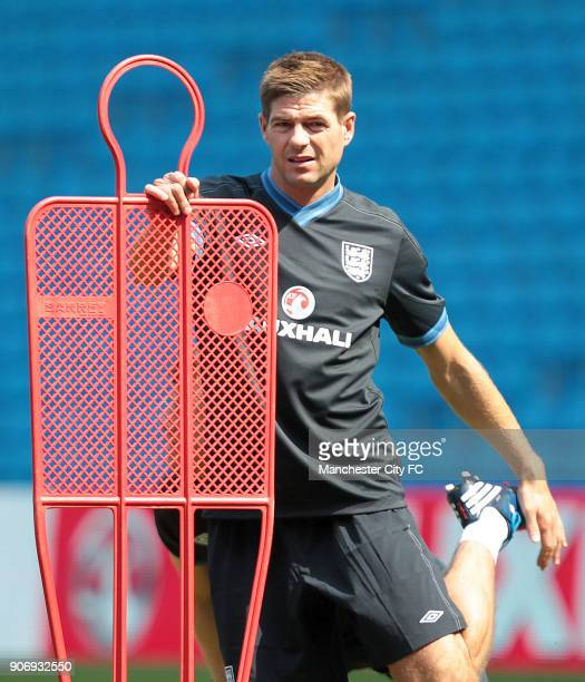 International Friendly Norway v England England Training Session Etihad Stadium England captain Steven Gerrard during training
