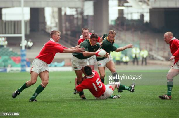 International friendly rugby match, Wales v South Africa. Wales won the match 29 - 19. Wales were victorious over the Springboks for the first time...