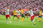 international friendly soccer match between poland