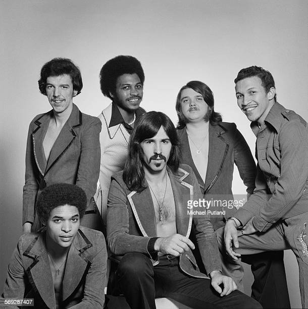 International funk and disco band Heatwave February 1976 Left to right guitarist Eric Johns keyboard player Rod Temperton singer Keith Wilder bassist...
