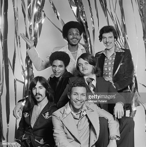 International funk and disco band Heatwave February 1976 Left to right bassist Mario Mantese guitarist Eric Johns singer Keith Wilder singer Johnnie...