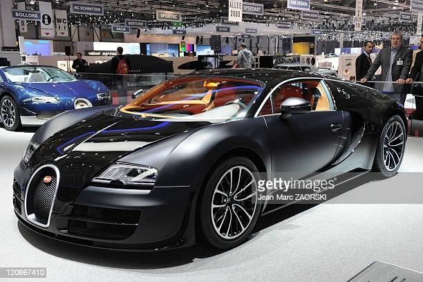 International Geneva Motor Show 2011 in Geneva Switzerland on March 01 2011 A view of the Bugatti Veyron 164 Super sport shown on the Bugatti stand...