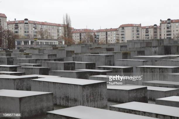 International Holocaust Remembrance Day in Berlin Germany on 26 January 2019 The Holocaust Memorial is a memorial in Berlin to the Jewish victims of...