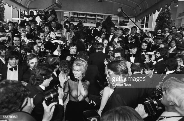 International horror film star Bobbie Bresee arrives on the red carpet of the 1979 Cannes Film Festival France Bresee was a staple of numerous Troma...