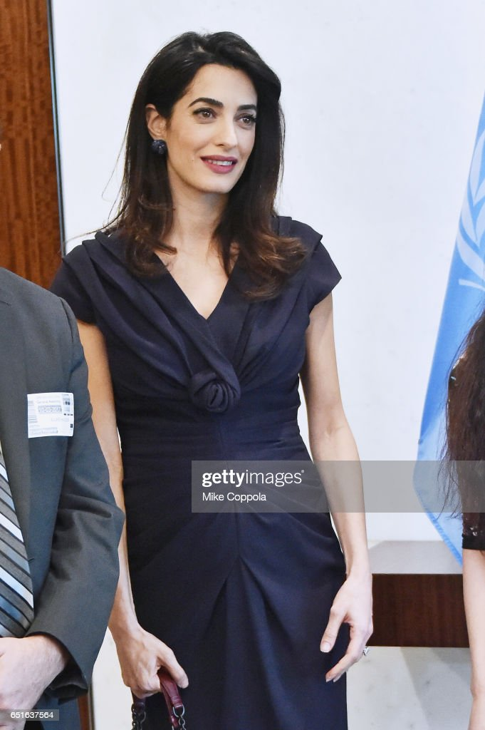 Amal Clooney Visits The Secretary-General Of The United Nations Antonio Guterres