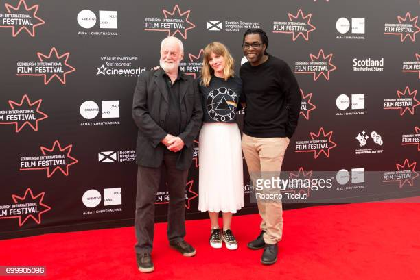 International Jurors Bernard Hill Shauna Macdonald and James Faust attend a photocall during the 71st Edinburgh International Film Festival at...