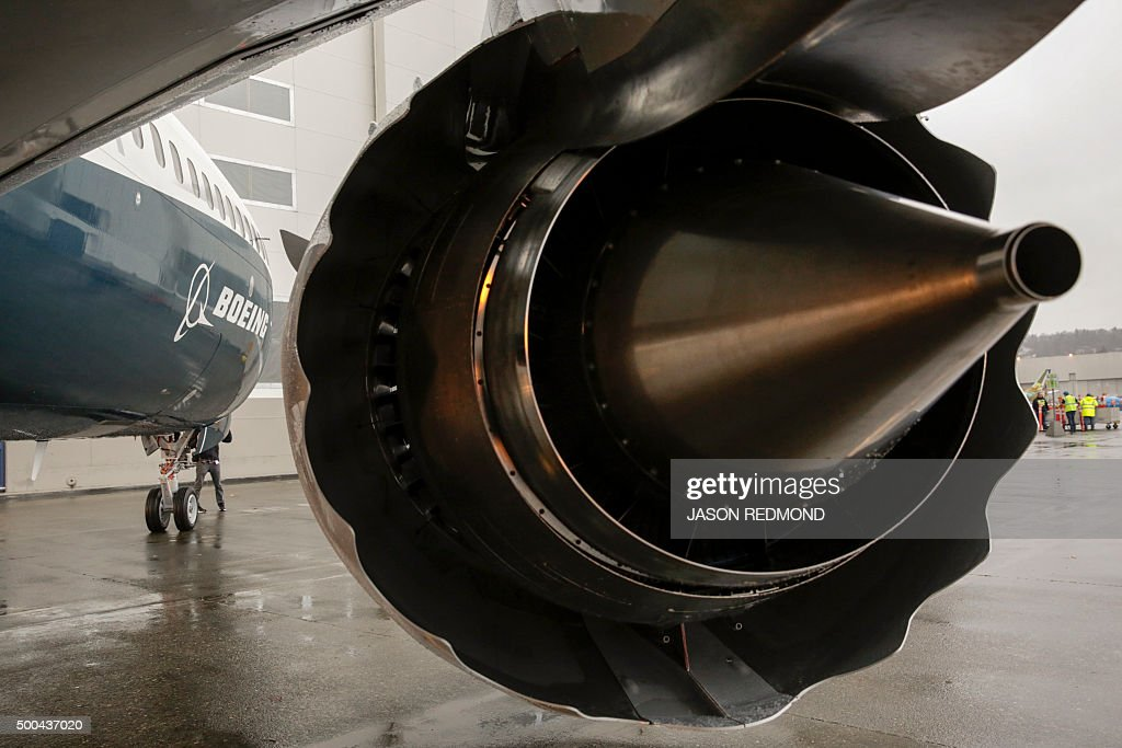 CFM International LEAP-1B engines are pictured on Boeing's